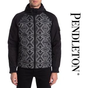 Pendleton Diamond Hooded Down Bomber Jacket